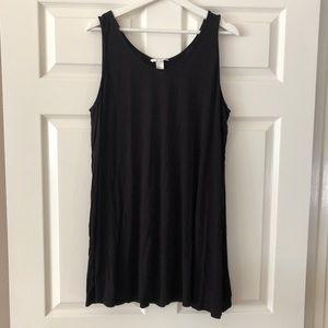 H&M Flowy Tunic Tank / Dress in Black. Size XL